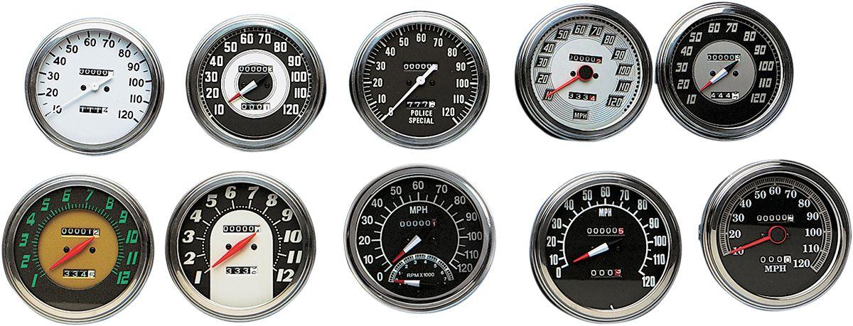 【Drag Specialties】1:1 36-40 速度表 5/8-18 【1:1 36-40 SPEEDO 5/8-18 [DS-243874]】 - 「Webike-摩托百貨」