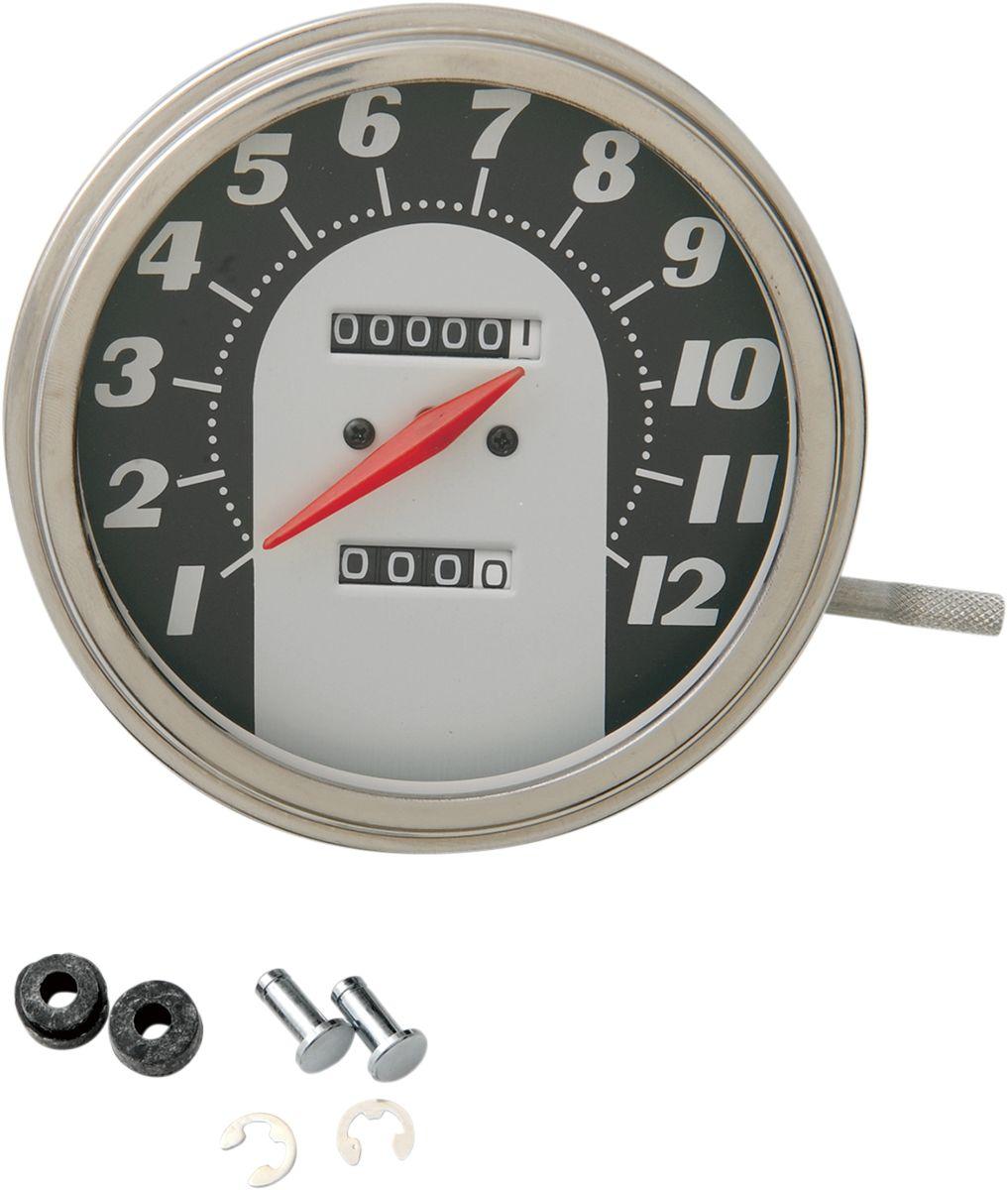 【Drag Specialties】1:1 62-67 速度表/ 5/8-18 【1:1 62-67 SPEEDO 5/8-18 [DS-243883]】 - 「Webike-摩托百貨」