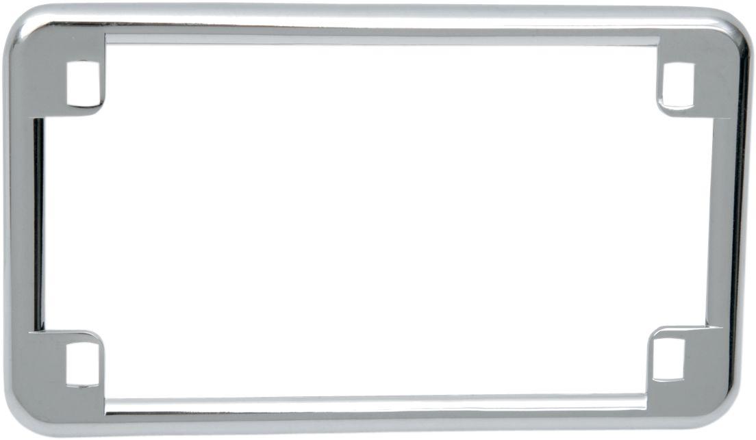 【Drag Specialties】牌照框/ 鍍鉻 4x7 【CHR LIC PLATE FRAME 4X7 [DS-270220]】 - 「Webike-摩托百貨」
