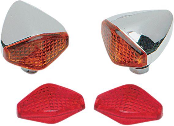 【Drag Specialties】菱型位置燈/單 FIL 【DIAMOND LIGHTS,SINGLE FIL [DS-280005]】 - 「Webike-摩托百貨」