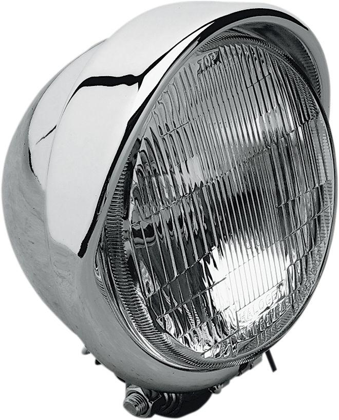 "【Drag Specialties】H-4 5 3/4"" 頭燈/ 附燈眉 【H-4 5 3/4""HEADLITE W/VISR [DS-280095]】 - 「Webike-摩托百貨」"