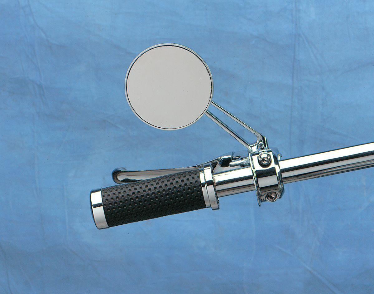 【Drag Specialties】圓型後視鏡/附短鏡桿 【ROUND MIRROR W/SHORT STEM [DS-302155]】 - 「Webike-摩托百貨」