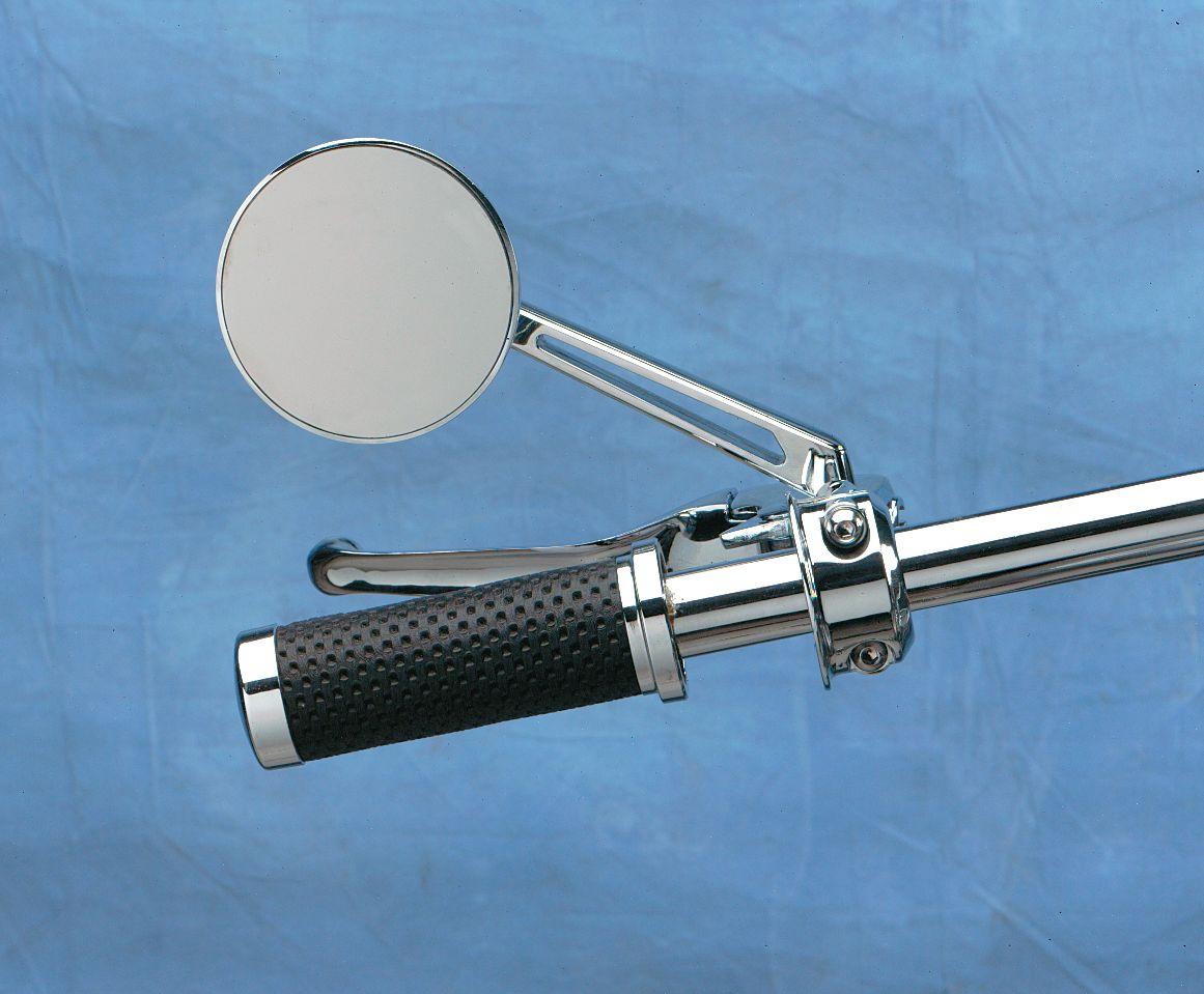 【Drag Specialties】圓型後視鏡/附長鏡桿 【ROUND MIRROR W/LONG STEM [DS-302156]】 - 「Webike-摩托百貨」