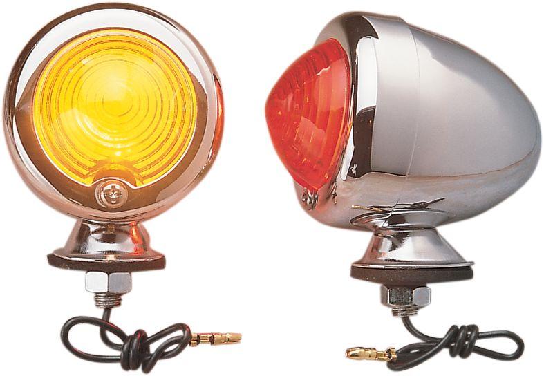 【Drag Specialties】維修用子彈型燈殼/ 橘色 【BULLET LITE REPL LENS AMB [DS-280060]】 - 「Webike-摩托百貨」