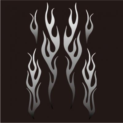 【JP Moto-Mart】Fire pattern・貼紙 - 「Webike-摩托百貨」