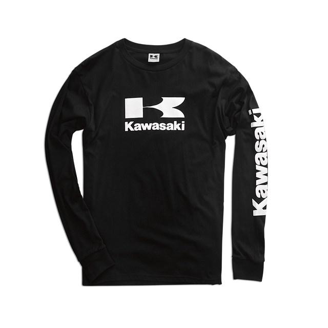 【US KAWASAKI】Stacked Logo 長袖 T恤 - 「Webike-摩托百貨」