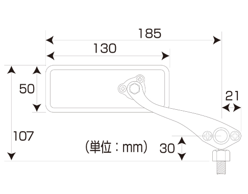 【TANAX NAPOLEON】球接頭式方型後視鏡 - 「Webike-摩托百貨」