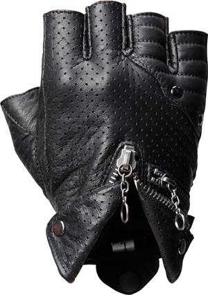 【FREE×FREE】半指打孔皮革手套 - 「Webike-摩托百貨」
