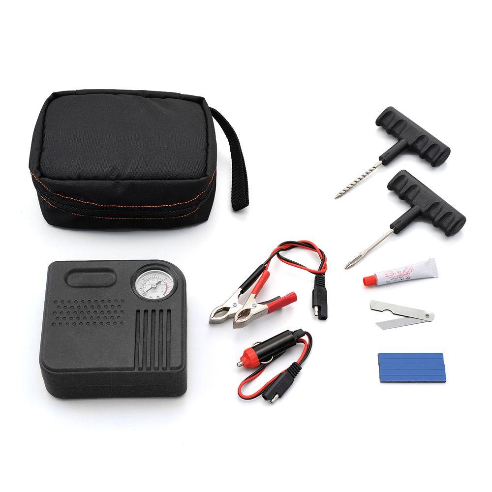 Puncture Repair Kit with Electric Air Pump