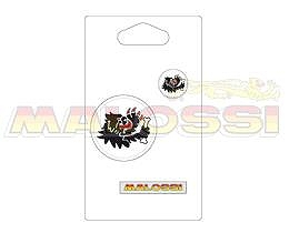 【MALOSSI】LOGO 貼紙 PVC材質(白色・圓形) - 「Webike-摩托百貨」