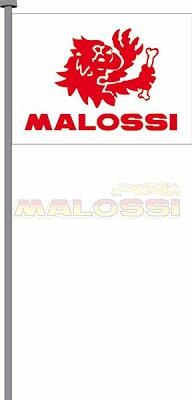 【MALOSSI】旗子 98X135cm 白底/紅字 - 「Webike-摩托百貨」