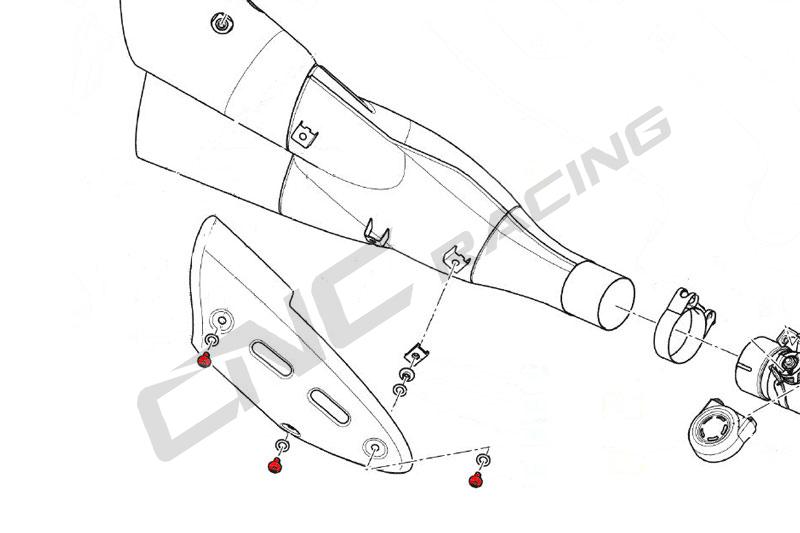 【CNC Racing】排氣管護蓋用螺絲 - 「Webike-摩托百貨」