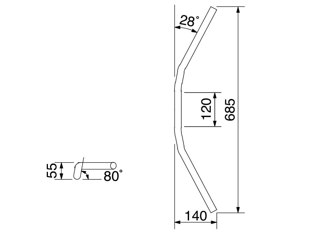 【HURRICANE】Conti3型套件專用把手(不含把手座) - 「Webike-摩托百貨」