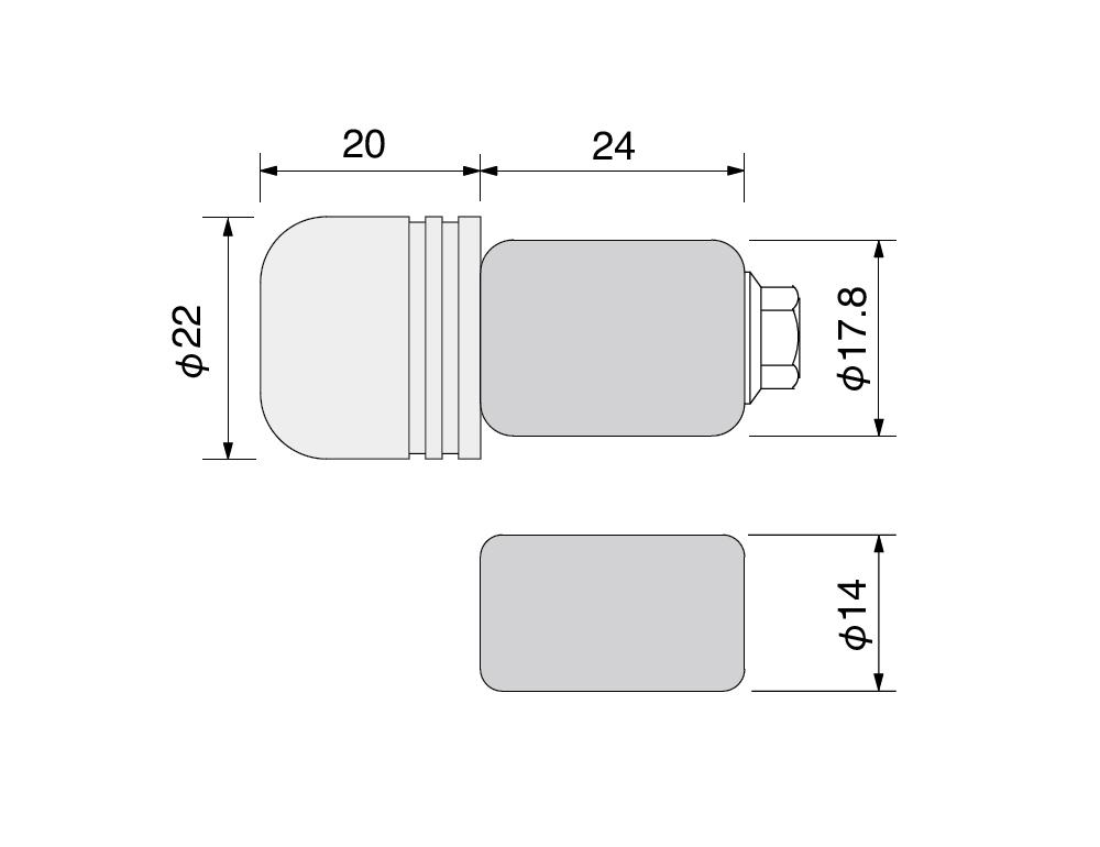 【HURRICANE】Φ22鋁合金把手端子 - 「Webike-摩托百貨」