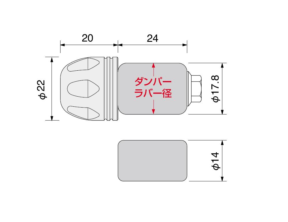 【HURRICANE】Φ22鋁合金把手端子 切削加工 - 「Webike-摩托百貨」
