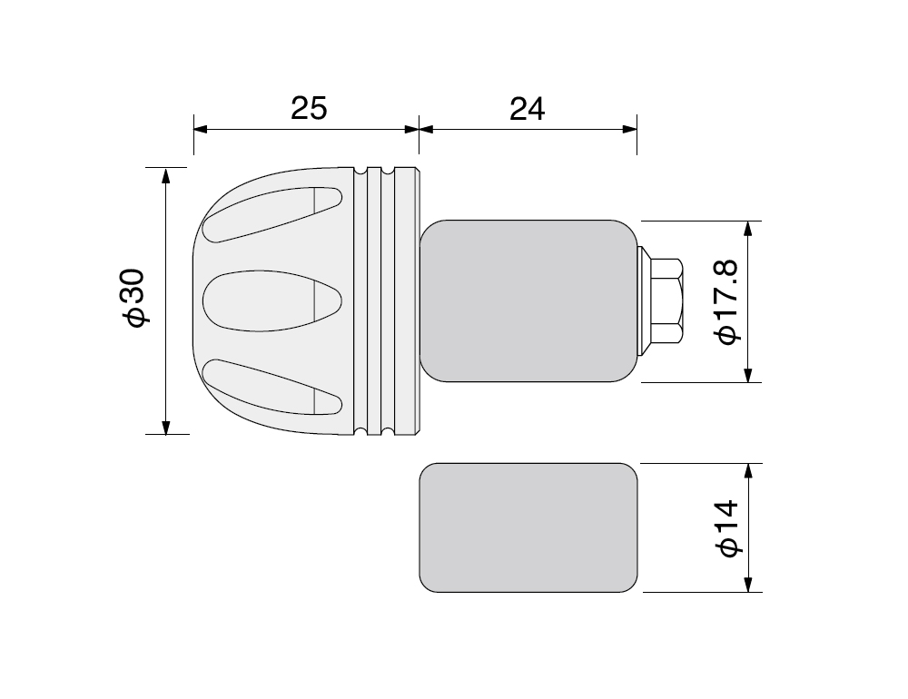【HURRICANE】Φ30鋁合金把手端子 切削加工 - 「Webike-摩托百貨」