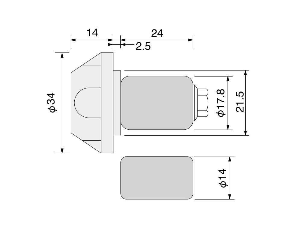 【HURRICANE】Φ34鋁合金把手端子 切削加工 - 「Webike-摩托百貨」