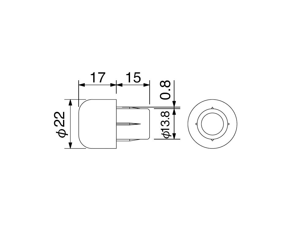 【HURRICANE】Φ22半球型側蓋 - 「Webike-摩托百貨」