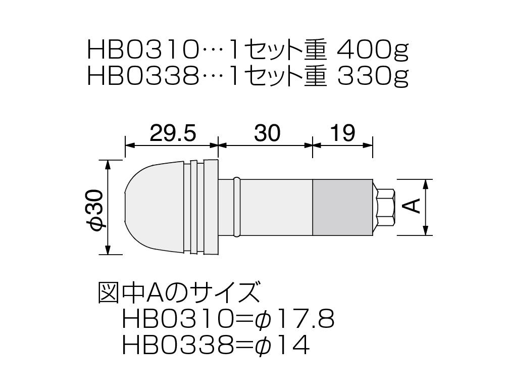 【HURRICANE】Φ30砲彈型平衡端子 - 「Webike-摩托百貨」