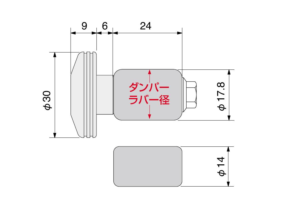 【HURRICANE】Φ30鋁合金把手端子 越野型式 - 「Webike-摩托百貨」