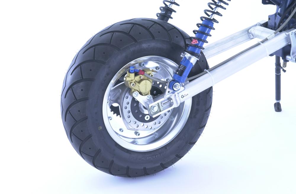 【G-Craft】加寬型碟煞後輪轂 (銀色) - 「Webike-摩托百貨」