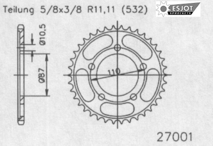 Esjot エスヨット:スチール製スプロケット