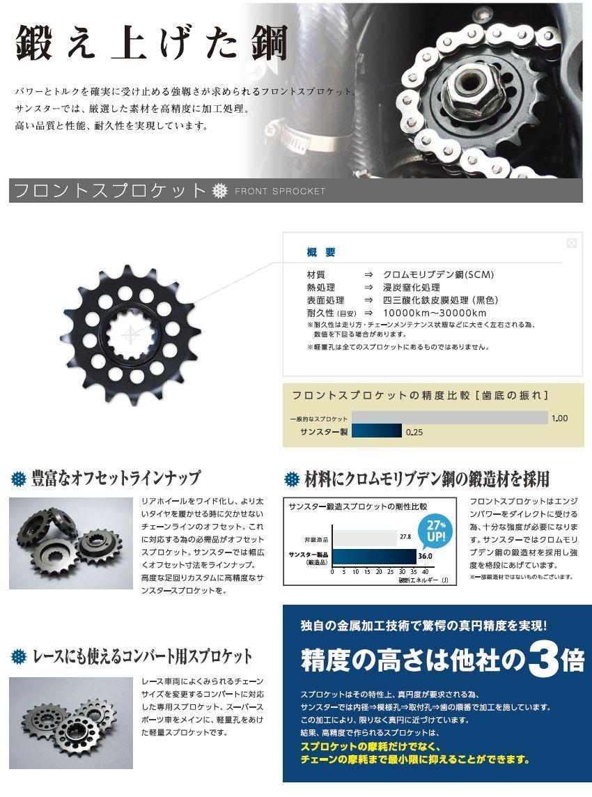 【SUNSTAR】前・後齒盤&鏈條・鏈條活目組 - 「Webike-摩托百貨」