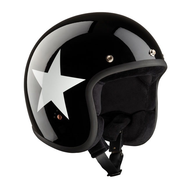 【Bandit Helmet】星星四分之三安全帽  黑色/白色 - 「Webike-摩托百貨」