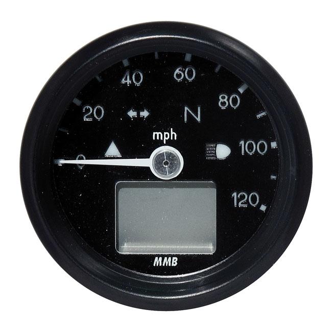 【MMB】48mm 電子式速度表 120 MPH - 「Webike-摩托百貨」