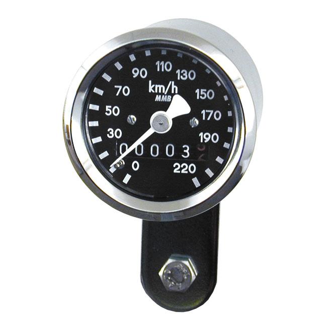 【MMB】ULTRA MINI 鍍鉻速度表 2:1 比率 - 「Webike-摩托百貨」