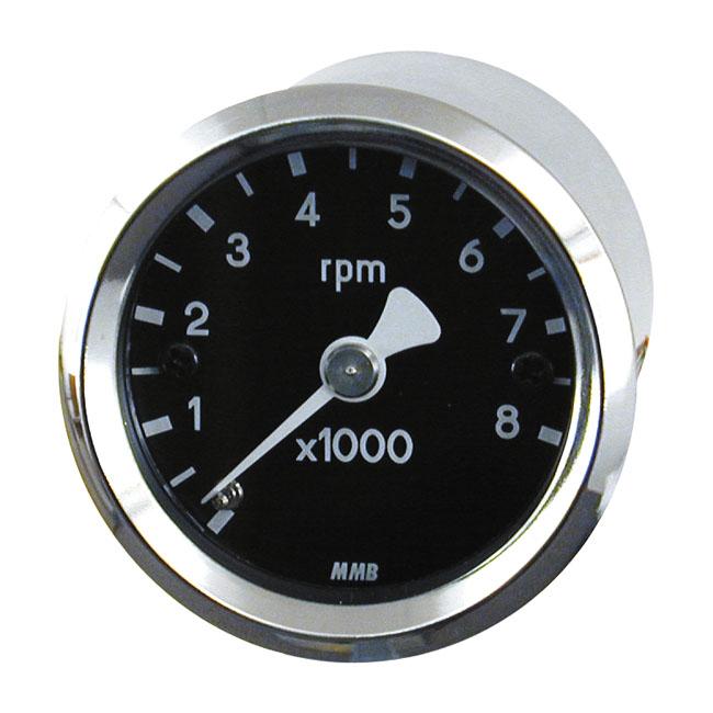【MMB】ULTRA MINI 黑色轉速表 8000RPM - 「Webike-摩托百貨」