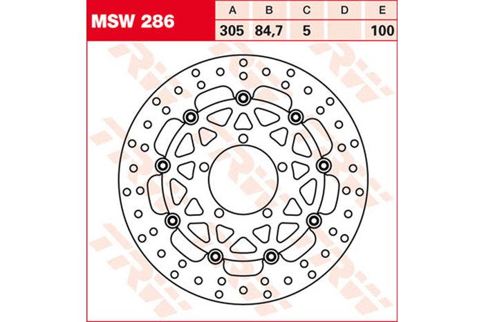 TRW ティーアールダブルBRAKE-DISCS [MSW286]