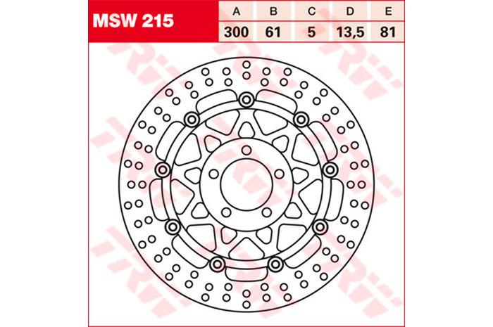 TRW ティーアールダブルBRAKE-DISCS [MSW215]