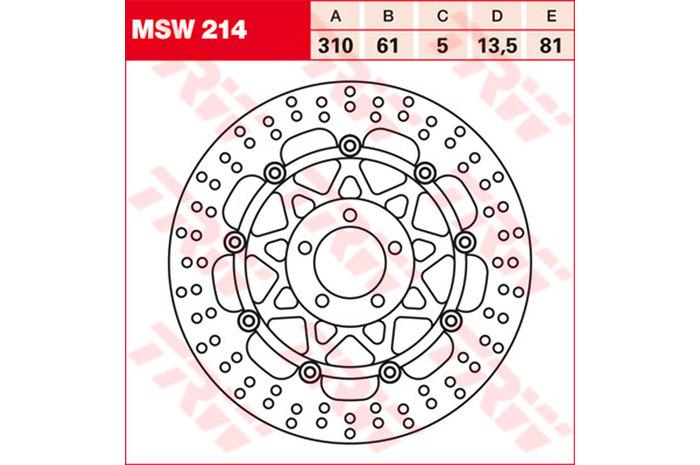 TRW ティーアールダブルBRAKE-DISCS [MSW214]