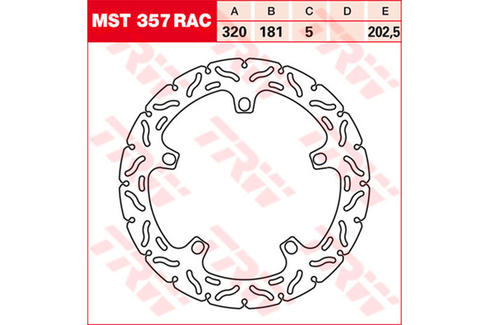 TRW ティーアールダブルBRAKE-DISCS RACING [MST357RAC2]