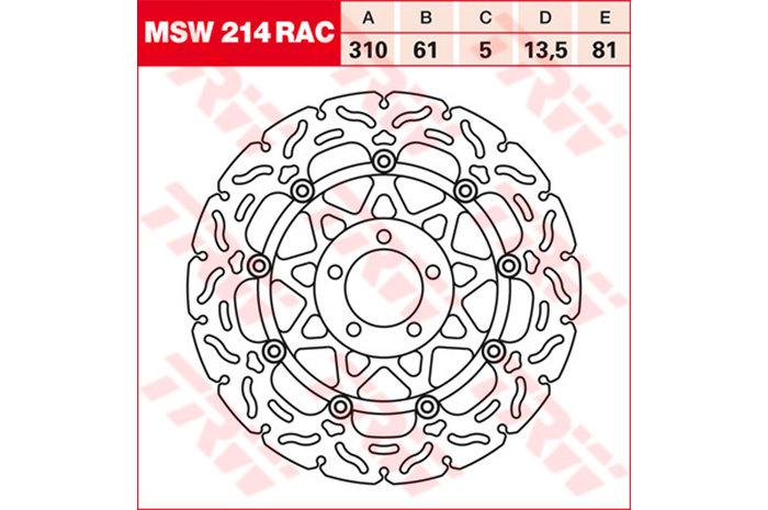 TRW ティーアールダブルBRAKE-DISCS RACING [MSW214RAC2]