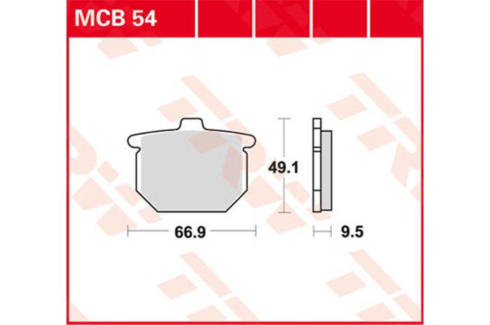 【TRW】有機材料型煞車來令片 [MCB054] - 「Webike-摩托百貨」