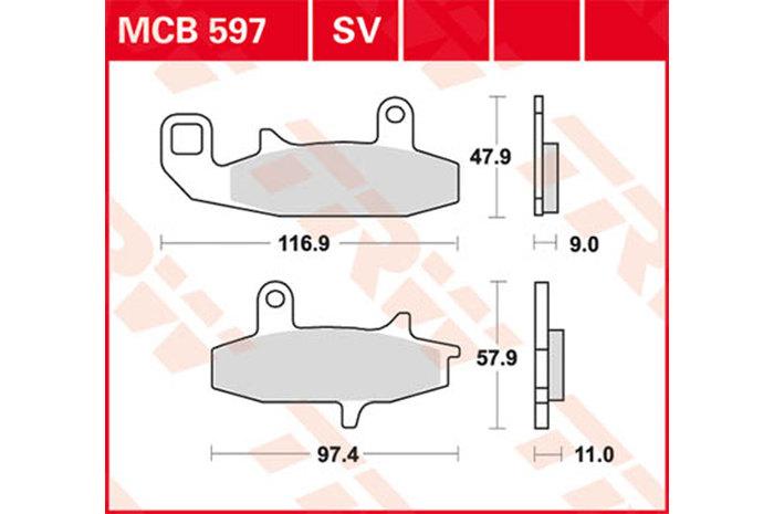 【TRW】有機材料型煞車來令片 [MCB597] - 「Webike-摩托百貨」