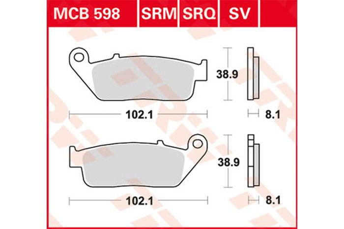 TRW ティーアールダブルBRAKE-PADS ORGANIC [MCB598]