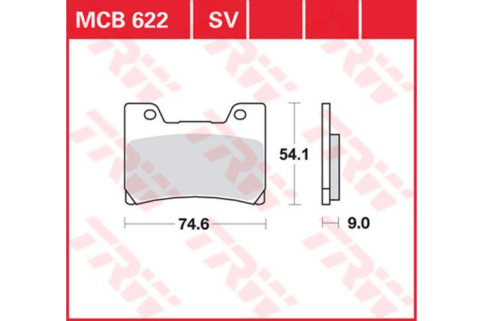 【TRW】有機材料型煞車來令片 [MCB622] - 「Webike-摩托百貨」