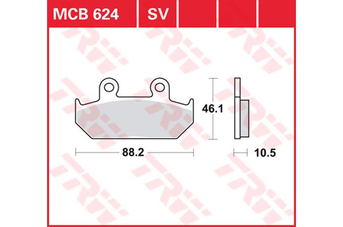 【TRW】有機材料型煞車來令片 [MCB624] - 「Webike-摩托百貨」