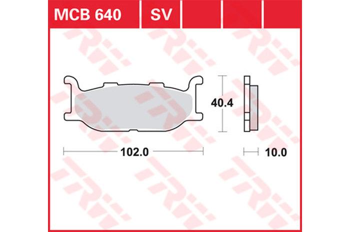 【TRW】有機材料型煞車來令片 [MCB640] - 「Webike-摩托百貨」