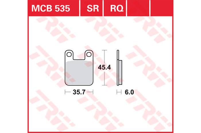 【TRW】有機材料型煞車來令片 /速克達和越野車 [MCB535EC] - 「Webike-摩托百貨」