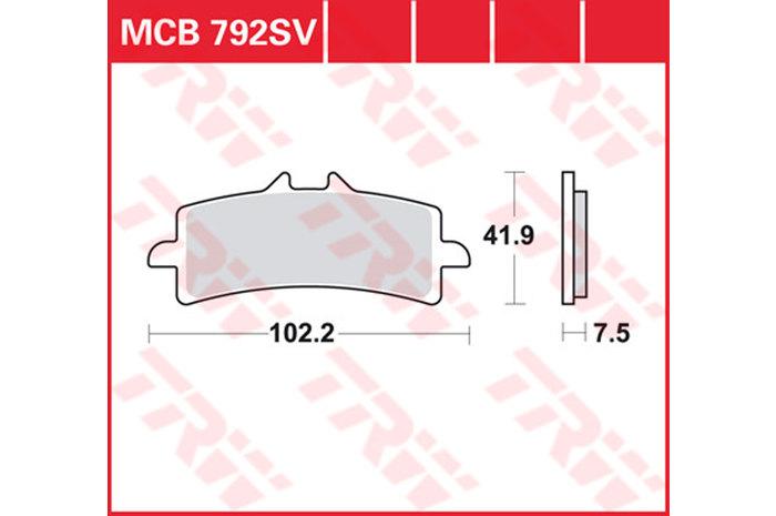 BRAKE-PADS SINTER [MCB792SV]