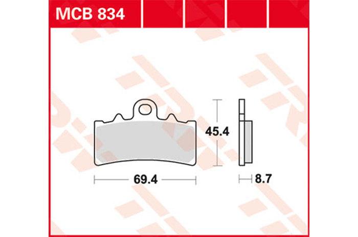 【TRW】有機材料型煞車來令片 [MCB843] - 「Webike-摩托百貨」