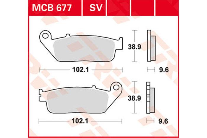 【TRW】煞車來令片 燒結 [MCB677SV] - 「Webike-摩托百貨」