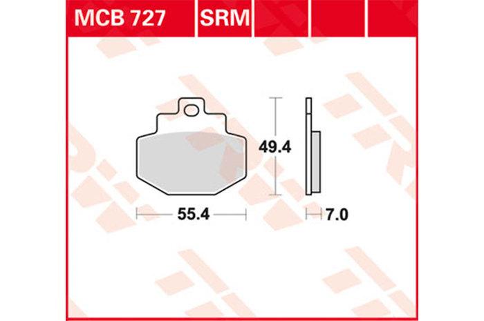 【TRW】有機材料型煞車來令片 /速克達和越野車 [MCB727SRM] - 「Webike-摩托百貨」