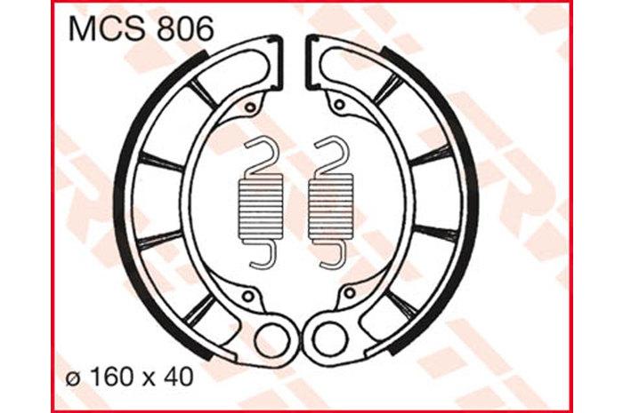 TRW ティーアールダブルBRAKE-SHOES ORGANIC [MCS806]