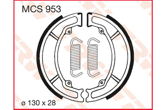 TRW BRAKE-SHOES ORGANICO [MCS953]