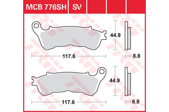 【TRW】煞車來令片 燒結 [MCB776SV] - 「Webike-摩托百貨」